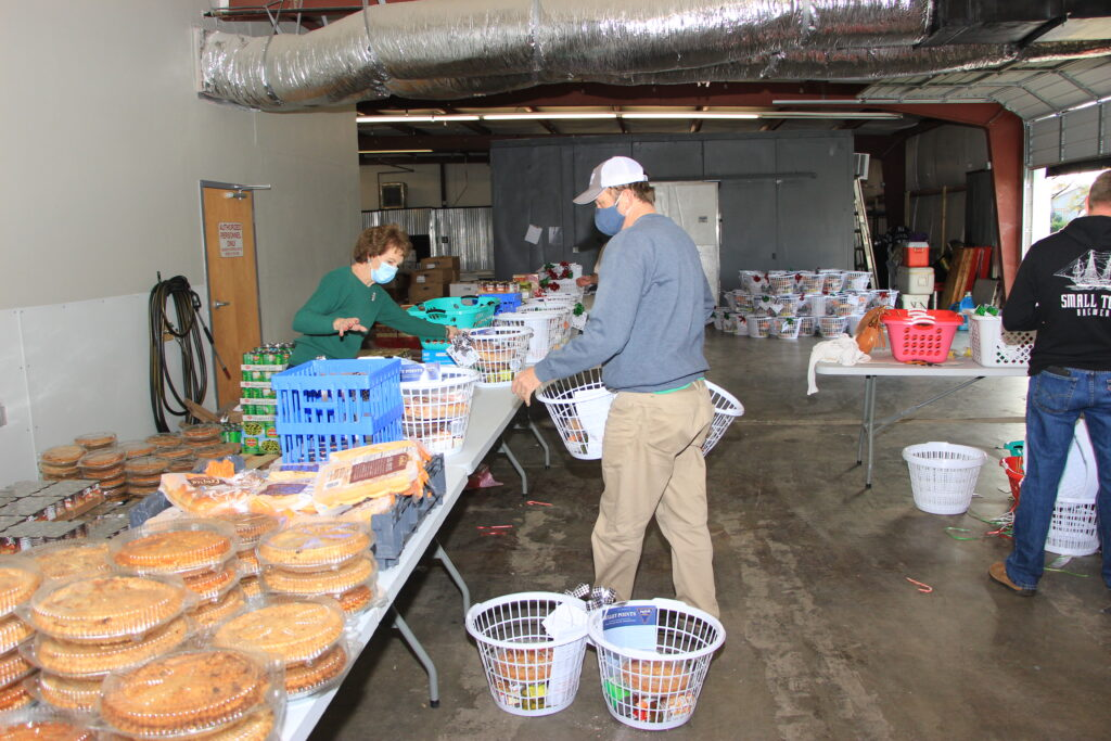Preparing Food Baskets